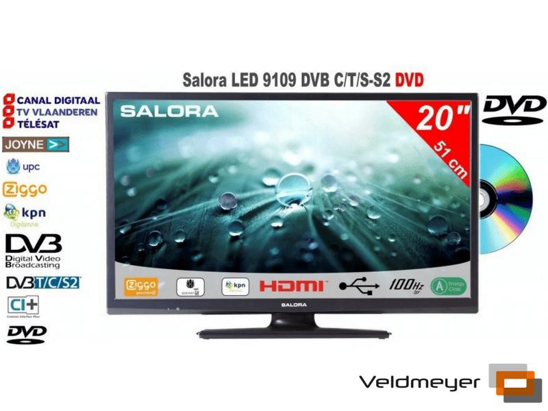 Salora LED9109CTS2 DVB-S2   Veldmeyer Beeld-Geluid-Satelliet, Car ...